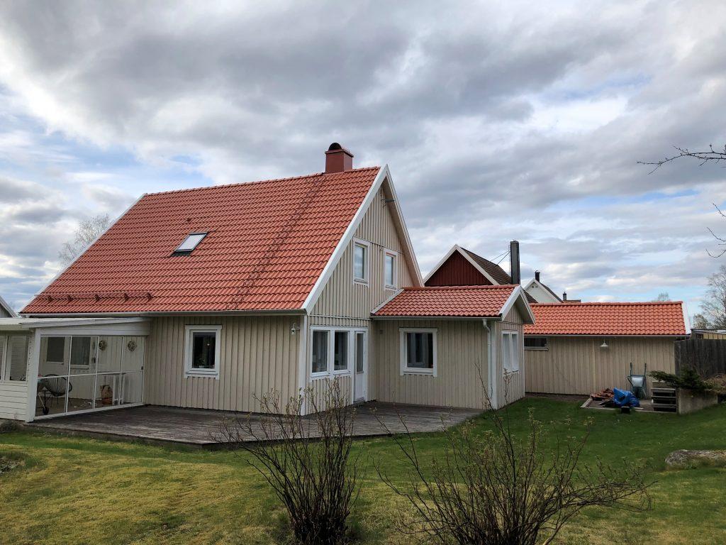 Takbyte, Ulricehamn. April 2020