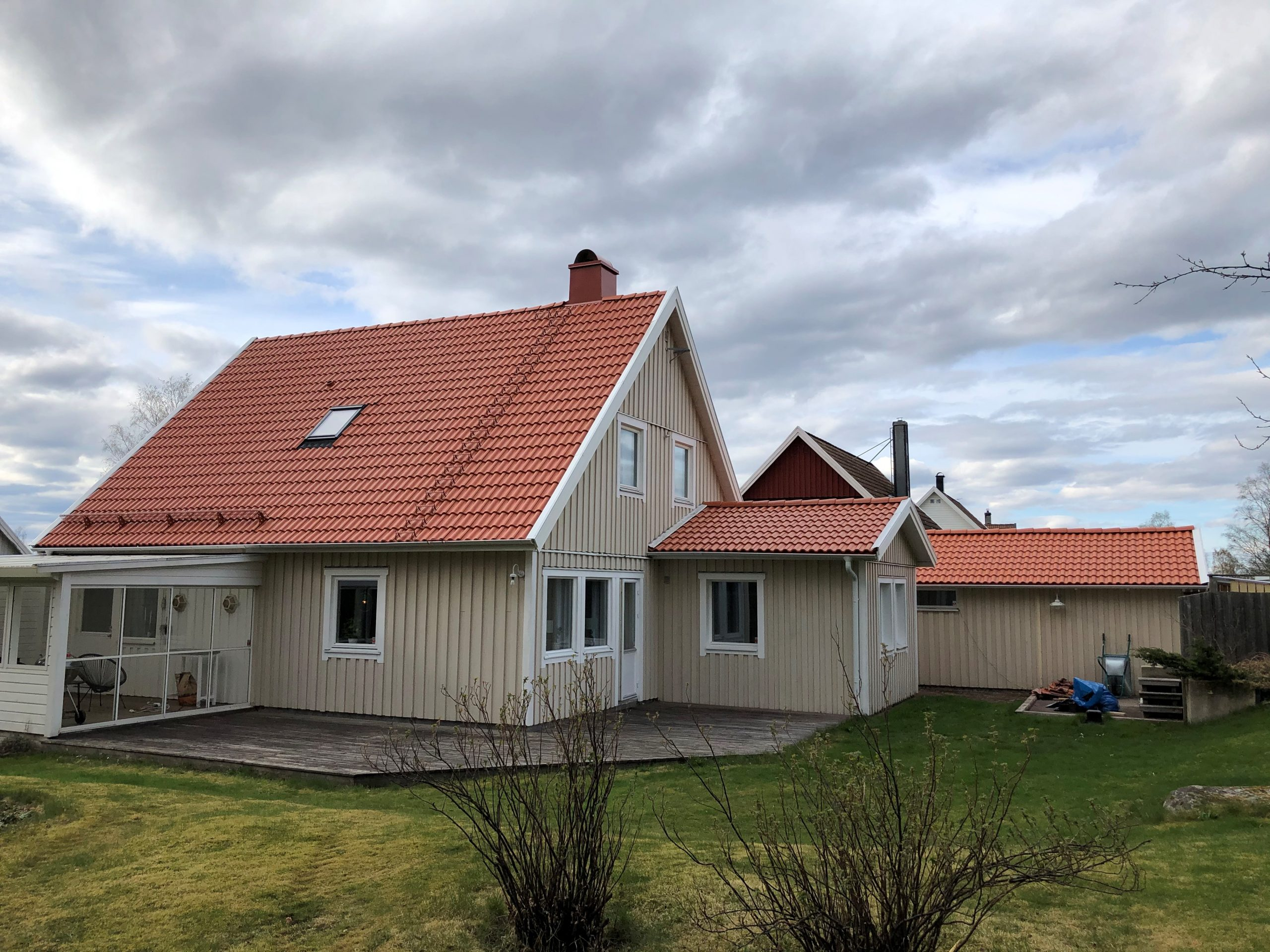 Takbyte, Ulricehamn. April 2020